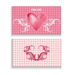 flyer card with heart vector image vector image
