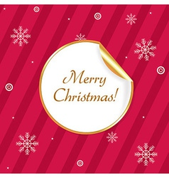 Label Merry Christmas vector image vector image