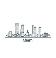 Outline Miami banner vector image vector image