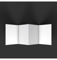 Zigzag four brochure mockup template vector image