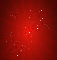 Christmas background of red rays vector image vector image