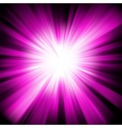 Purple star burst background vector image