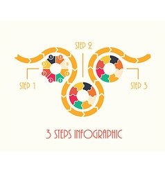 3 steps infographic vector image