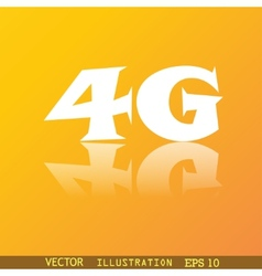 4G icon symbol Flat modern web design with vector