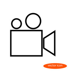 a simple stylized linear image of a film vector image