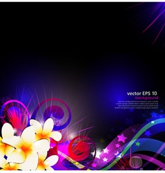 abstract background celebration with flowers vector image
