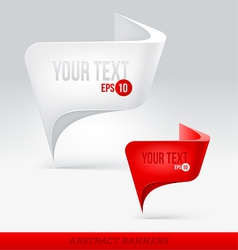 Abstract banners - speech bubbles or pointer vector image