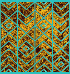 ancient yellow color geometric seamless pattern vector image