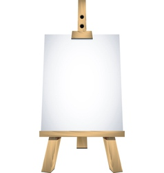 Art easel vector