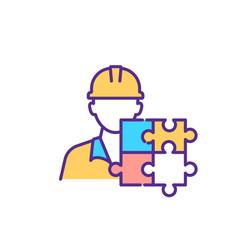 Autistic employee rgb color icon vector