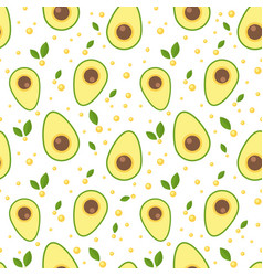 avocado seamless pattern for print and fabric vector image