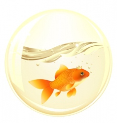 ball with goldfish vector image