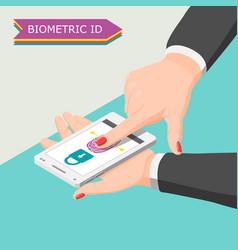 Biometric id background vector