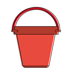 bucket with handle icon image vector image