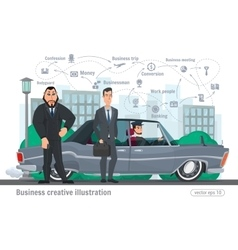 Business creative businessman vector image