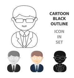 business man cartoon icon for web vector image