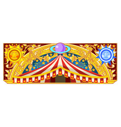 Carnival banner for birthday card vector