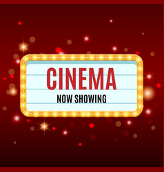cinema banner movie watching retro background vector image