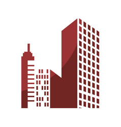city buildings icon vector image