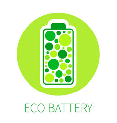 color battery icon vector image
