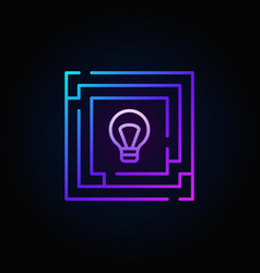 Colorful labyrinth with light bulb icon vector