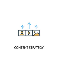 content strategy concept 2 colored line icon vector image