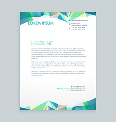creative abstract shapes letterhead design vector image