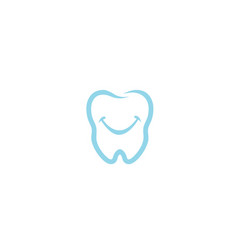 creative dental teeth smile logo design symbol vector image