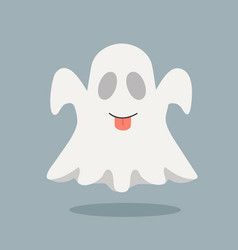 Cute ghost with tongue vector