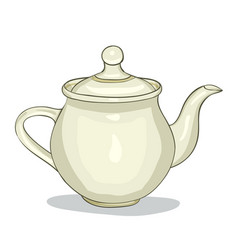 Digital painted teapot vector