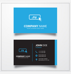 domain ru icon business card template vector image