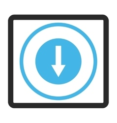 Down Rounded Arrow Framed Icon vector