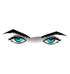 Eyes are blue in the style of manga vector