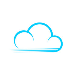 fast blue cloud stripe lines symbol design vector image