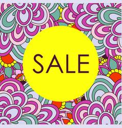 Frame of doodle sale card vector