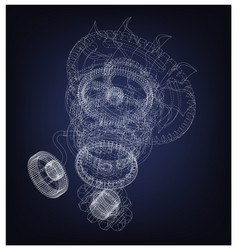 gear mechanism on blue vector image
