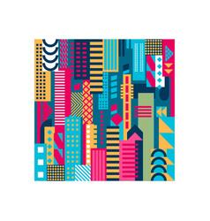 geometric city background vector image