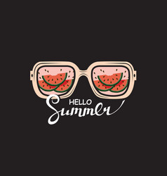 Glasses with summer vacation design vector