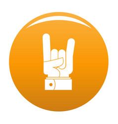 hand rock icon orange vector image