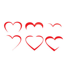 heart art collection vector image
