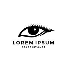 human eye logo vector image