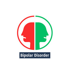 Human heads like bipolar disorder vector