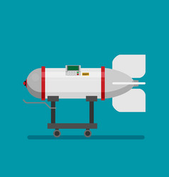 Icon in flat style design rocket bomb vector