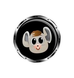 Image mouse rocket porthole vector