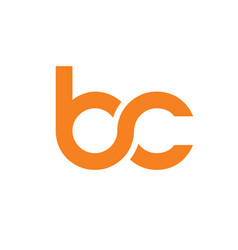 initial letter bc logo vector image