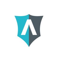 Letter a shield company logo vector