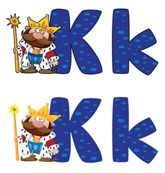 letter K king vector image