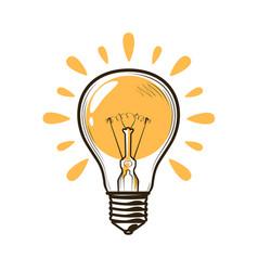 lightbulb bulb electricity electric light vector image