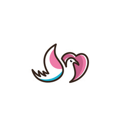 logo of love birds icon line art picture vector image
