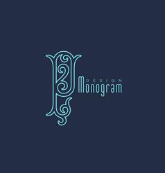 Luxury monogram p vector
